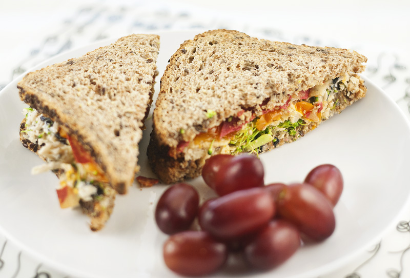Mock Chicken Salad Sandwich