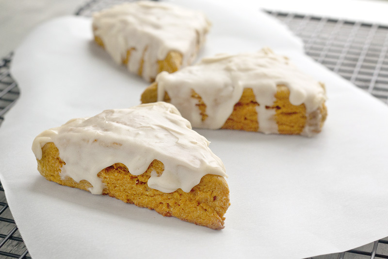 Pumpkin Scone w/ Brown Butter Glaze