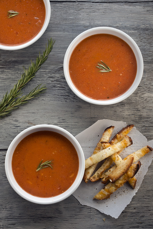 Rosemary Tomato Soup & Grilled Cheese Fries